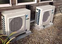 Heat pump ductless system repair service in Newport OR.